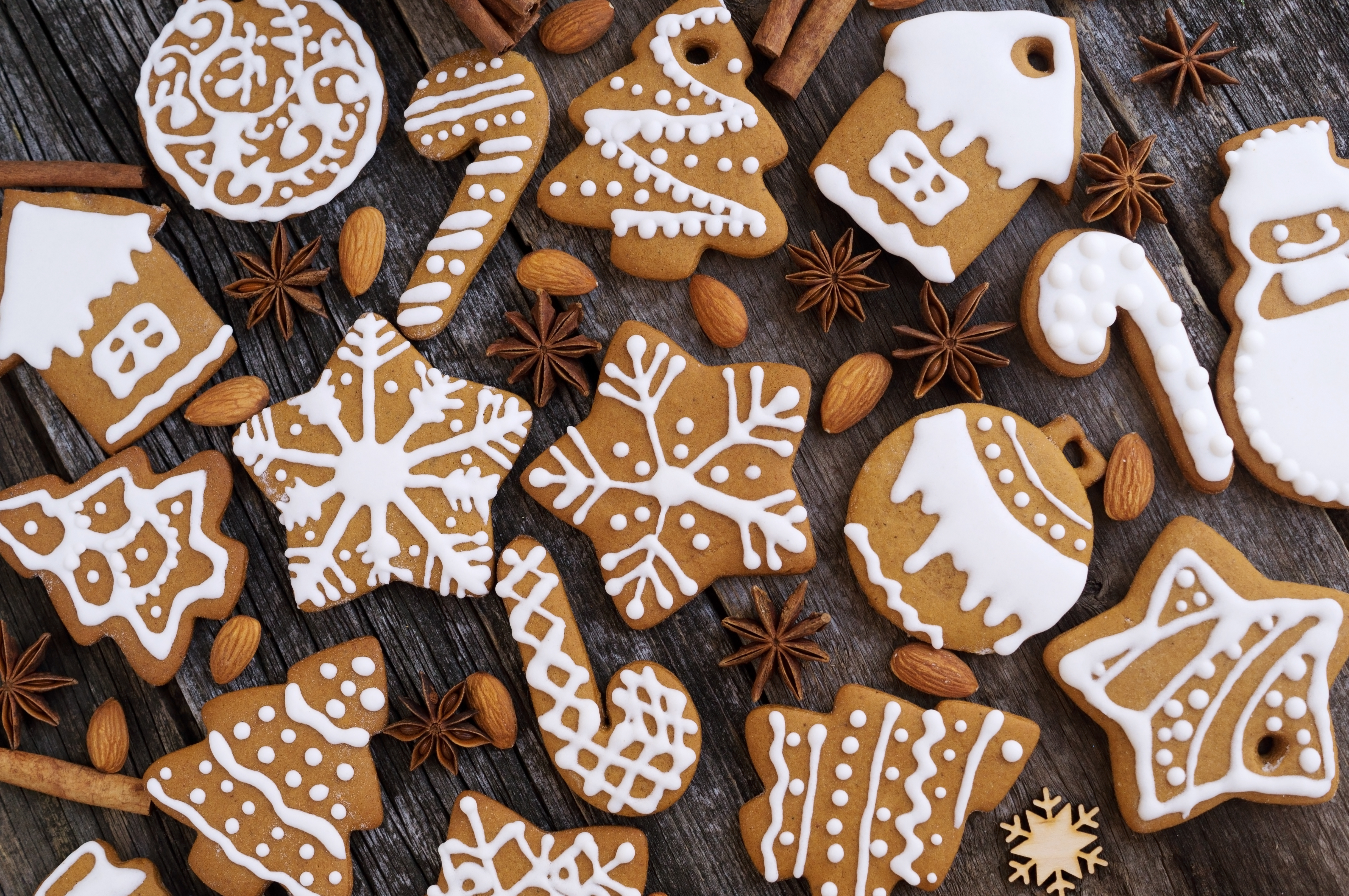 Homemade Christmas Cookies On A Wooden Background Ginsberg S Foods