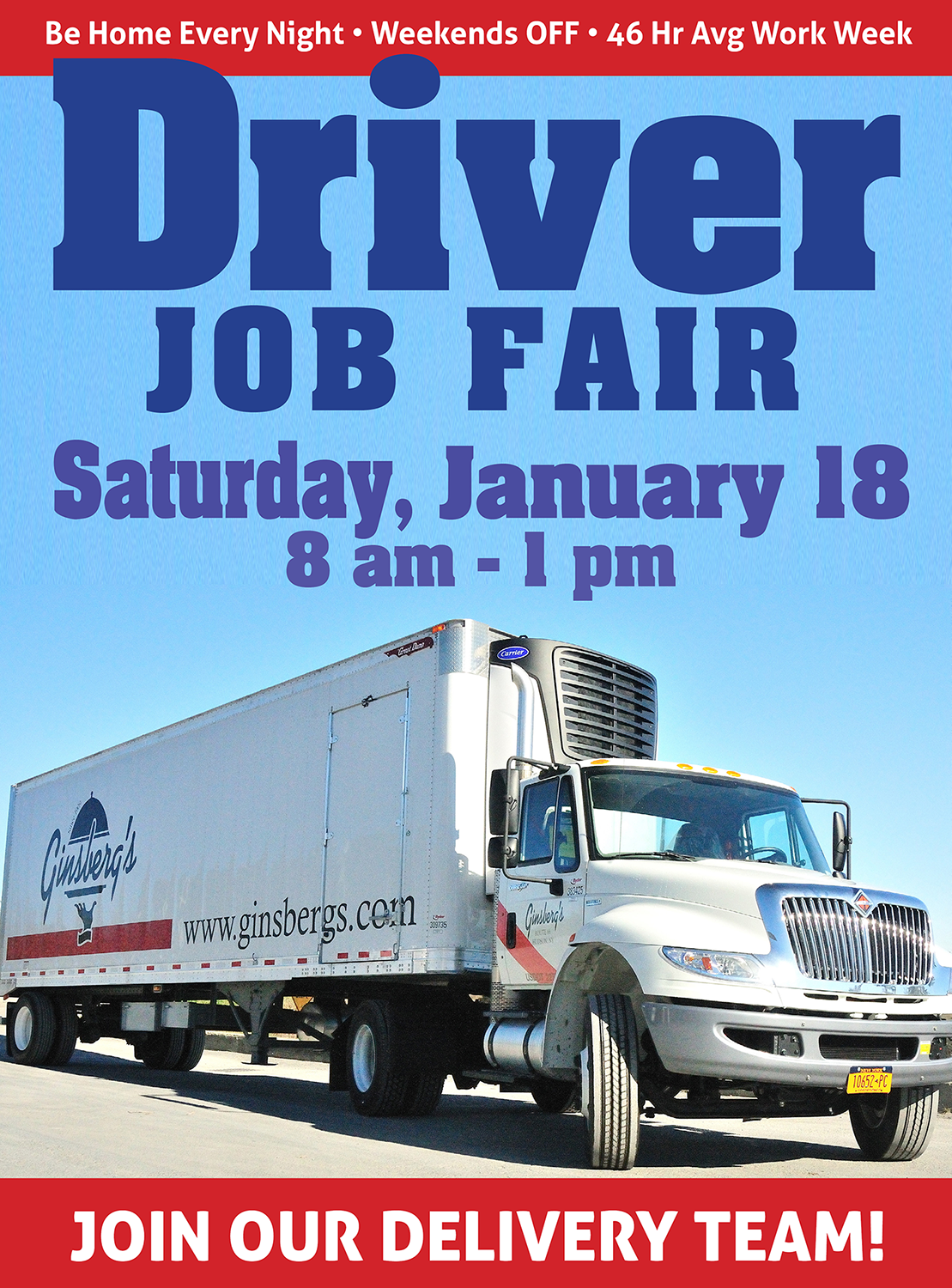 Delivery Driver Job Fair in Hudson New York
