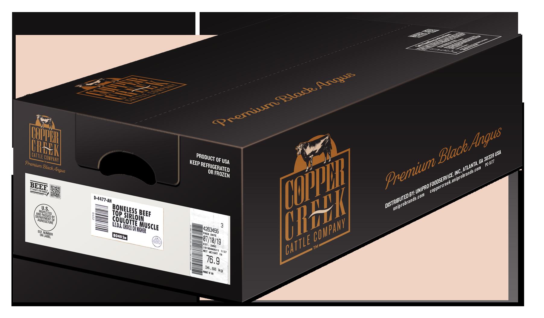 Copper Creek Black Angus Packaging