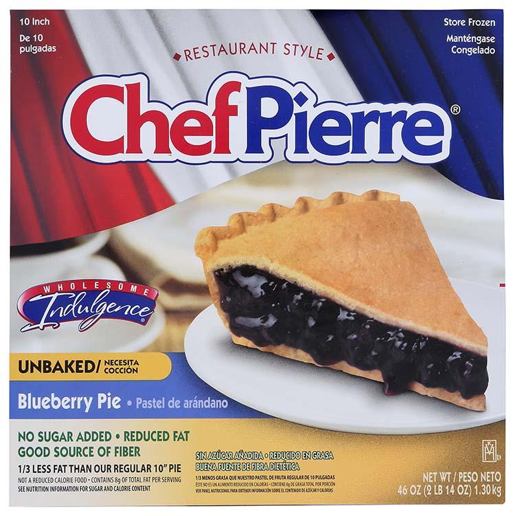 Chef Pierre No Sugar Added Blueberry Pie