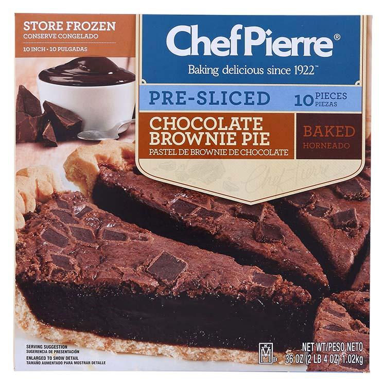 Chef Pierre Chocolate Brownie Pie