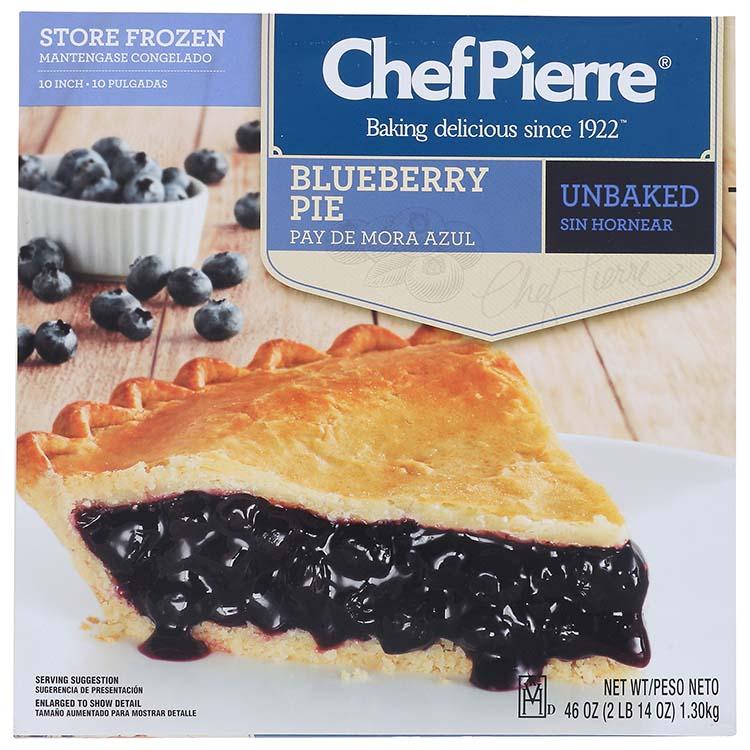 Chef Pierre Blueberry Pie