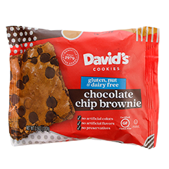 David's Chocolate Chip Brownie Packaging