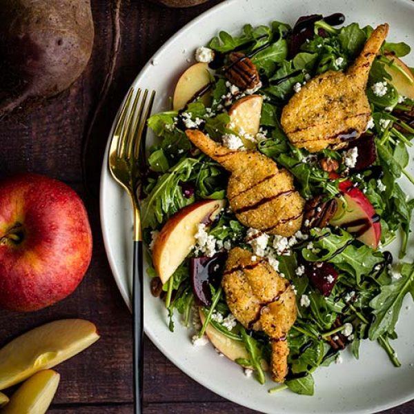 HIgliner Garlic Herb Shrimp Apple Beet Salad 500x500