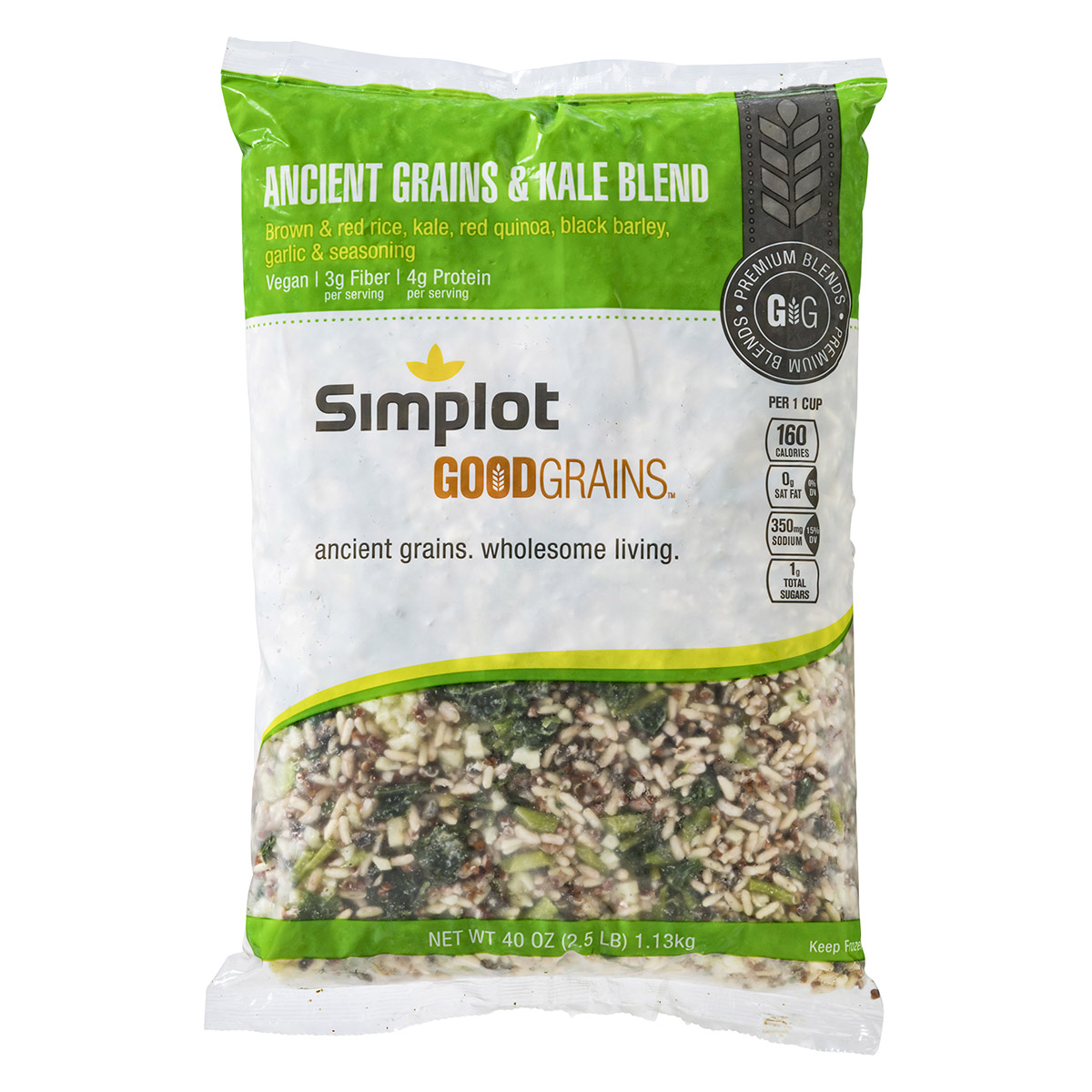Simplot Ancient Grain & Kale Packaging