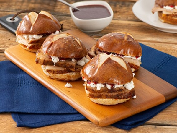 Ancho Crusted Pork Belly Sliders