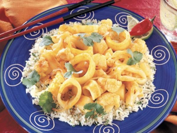Calamari Curry Stir Fry