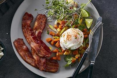 Bacon 1 Sweet Potao & Bacon Hash