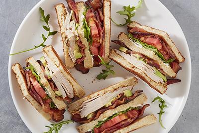 Bacon 1 California Club Sandwich