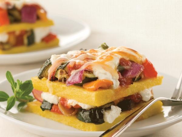 Polenta and Roasted Vegetable Lasagna
