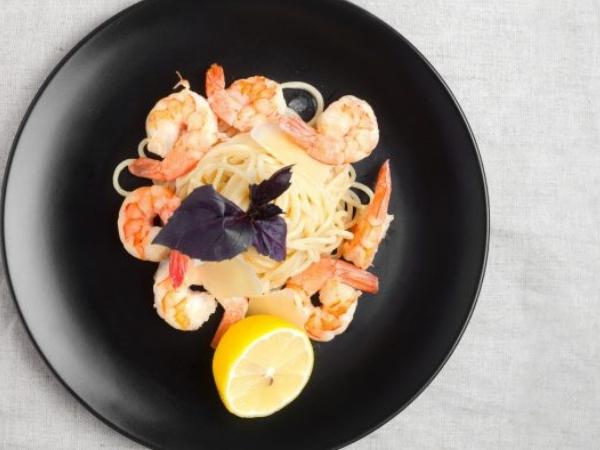 Shrimp and Lemon Basil Pasta