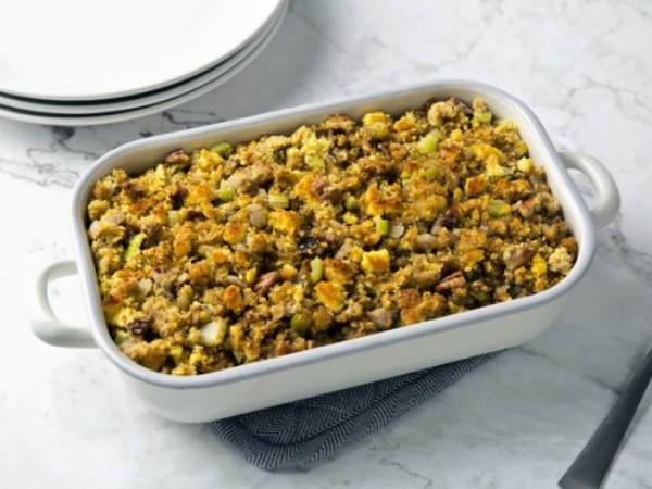 Toasted Pecan Cider and Cornbread Stuffing