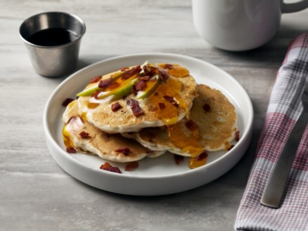 Upstate New York Turkey Apple and Cheddar Cheese Pancakes