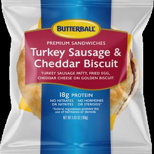 Butterball Turkey Sausage & Cheddar Biscuit