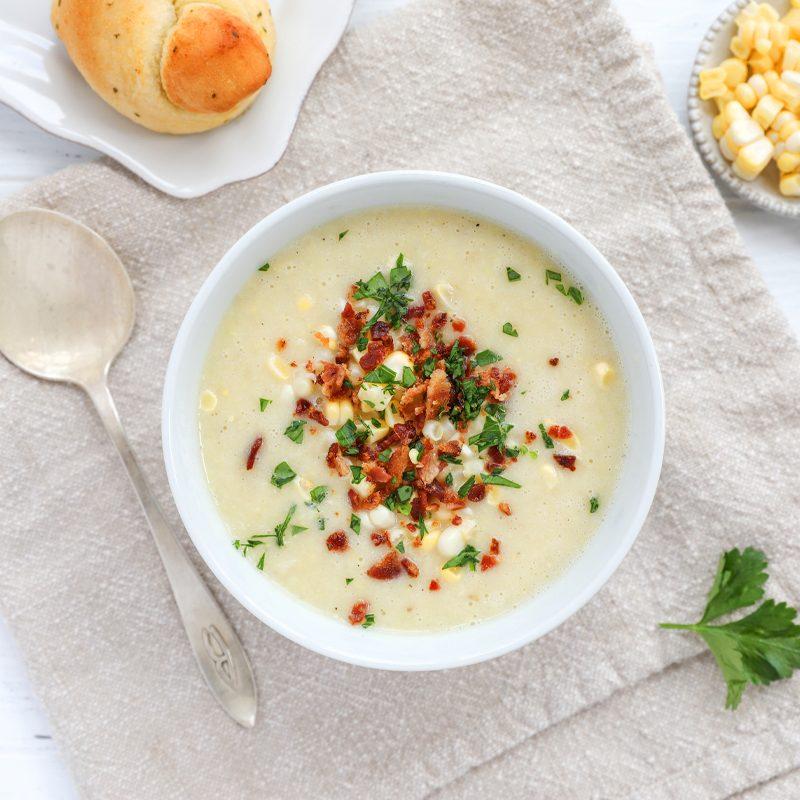 Corn chowder with oatmilk