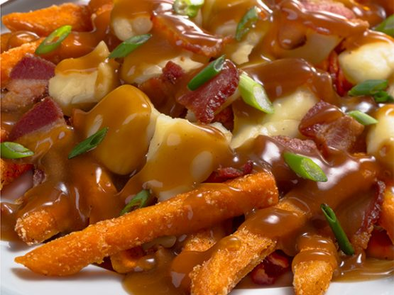 Maple Bacon Sweet Potato Poutine